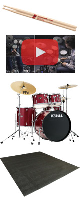 【ドラムマット付き】 TAMA(タマ) / IMPERIALSTAR(インペリアルスター) [IE52KH6HC-CPM(キャンディ・アップル・ミスト)] - 22インチバスドラムセット - 4大特典セット