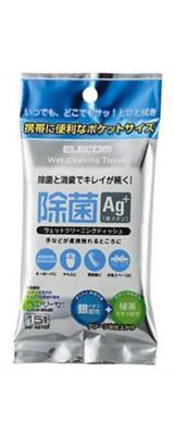 Elecom(エレコム) / WC-AG15P ウェットティッシュクリーナー (15枚入り / 除菌・消臭効果あり)