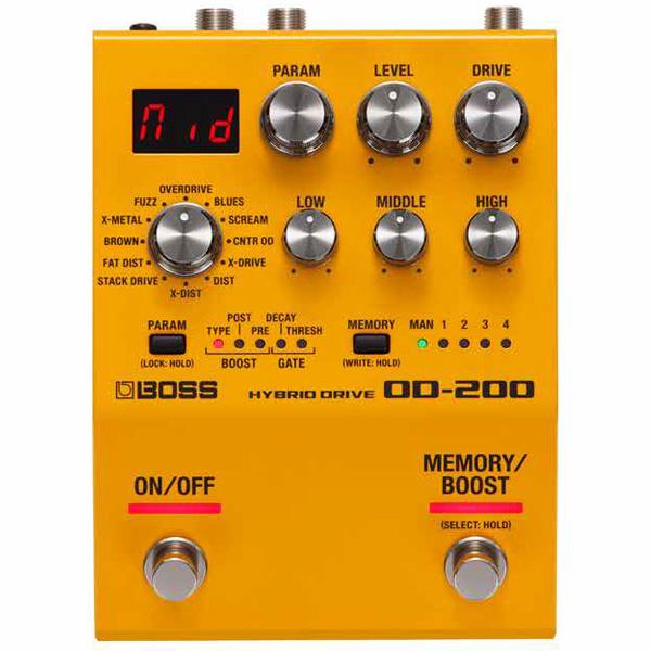 Boss(ボス) / OD-200 HYBRID DRIVE オーバードライブ ディストーション ≪ギター ベース エフェクター≫ 【今秋発売予定】
