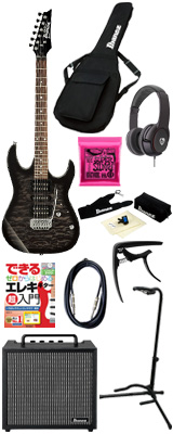 ■ご予約受付■ 【初心者コンプリートセット】 Ibanez(アイバニーズ) / GRX70QA-TKS [GIO:Ibanez] -  エレキギター コンボアンプセット - 【次回11月頃予定】 6大特典セット