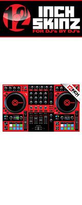 12inch SKINZ / Native Instruments Kontrol S4 MK3 Skinz (Red/Black) 【Kontrol S4 MK3 用スキン】