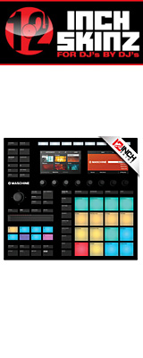 12inch SKINZ / Native Instruments Maschine MK3 Skinz (Black) 【Maschine MK3 用スキン】