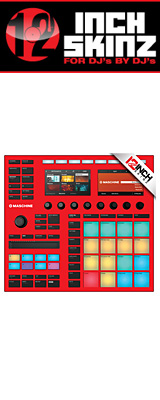 12inch SKINZ / Native Instruments Maschine MK3 Skinz (Red) 【Maschine MK3 用スキン】