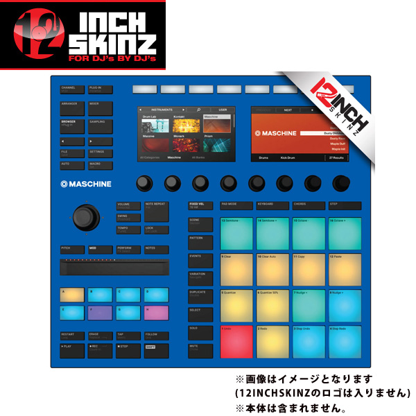 12inch SKINZ / Native Instruments Maschine MK3 Skinz (Blue) 【Maschine MK3 用スキン】