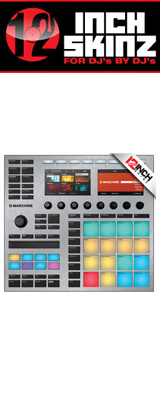 12inch SKINZ / Native Instruments Maschine MK3 Skinz Metallics (Brushed Silver) 【Maschine MK3 用スキン】