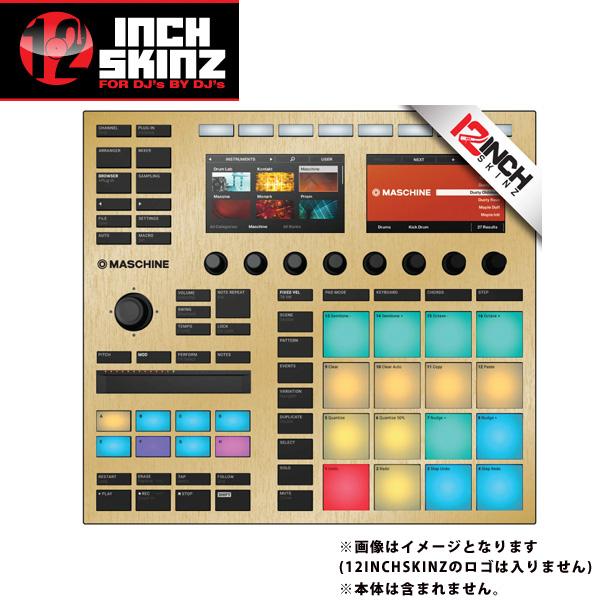 12inch SKINZ / Native Instruments Maschine MK3 Skinz Metallics (Brushed Gold) 【Maschine MK3 用スキン】