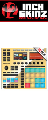 12inch SKINZ / Native Instruments Maschine MK3 Skinz Metallics (Mirror Gold) 【Maschine MK3 用スキン】