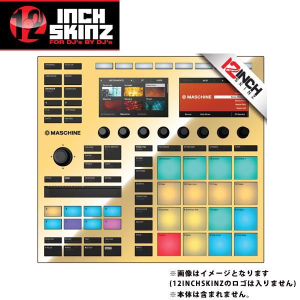 12inch SKINZ / Native Instruments Maschine MK3 Skinz Metallics (Mirror Gold) 【Maschine MK3 用スキン】
