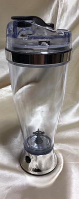 Rechargeable Portable Shaker Bottle (450ml) 電動プロテインシェーカー 乾電池駆動