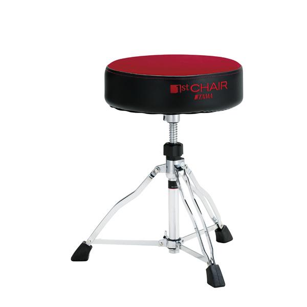"""【限定モデル】 TAMA(タマ) / HT430DRC (ダーク・レッド) 【1st Chair ROUND RIDER ラウンドライダー 3脚""""クロストップ""""スローン】 - ドラムスローン -"""