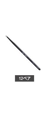 【12ペア】 Pearl(パール) /  110HBC-N Pearl Drum Sticks Classic Series ナイロンチップバージョン(Barrel) 【Basic】 -ブラックラッカーフィニッシュ- ドラムスティック