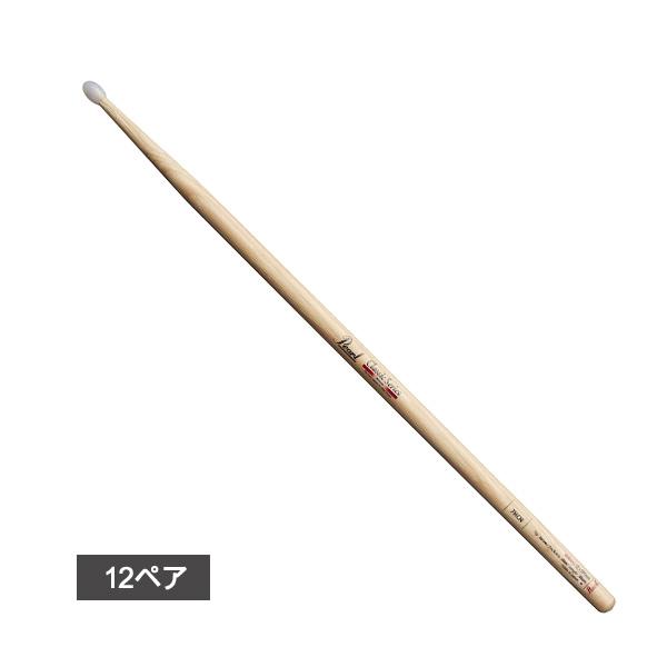【12ペア】 Pearl(パール) / 7HC-N Drum Sticks Classic Series ナイロンチップバージョン(Tear Drop) 【Slim Short Body】 ドラムスティック