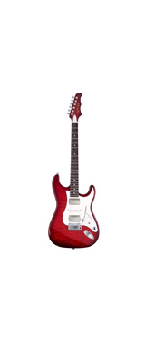 MD Guitars (エムディーギターズ) / G7-Q / SR 日本製 エレキギター シースルーレッド 「ギグバッグ付」 1大特典セット