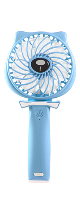 TriPole / Mini Handheld Fan (Blue) USB充電式ハンディ扇風機