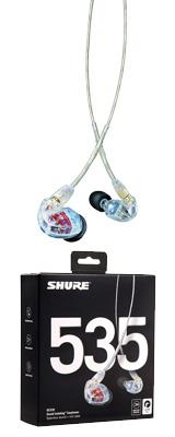 Shure(シュアー) / SE535-CL-A (クリア) カナル型 高遮音性イヤホン 1大特典セット