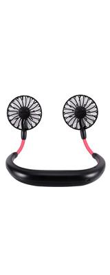 パーソナル扇風機 首掛けタイプ (BLACK) USB充電式ファン
