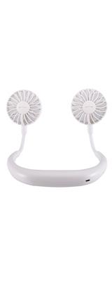 パーソナル扇風機 首掛けタイプ (WHITE) USB充電式ファン