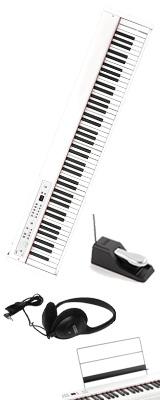 Korg(コルグ) / D1 WH (ホワイト) スピーカーレス デジタルピアノ 「譜面立て・ダンパーペダル・ヘッドホン付き」 1大特典セット