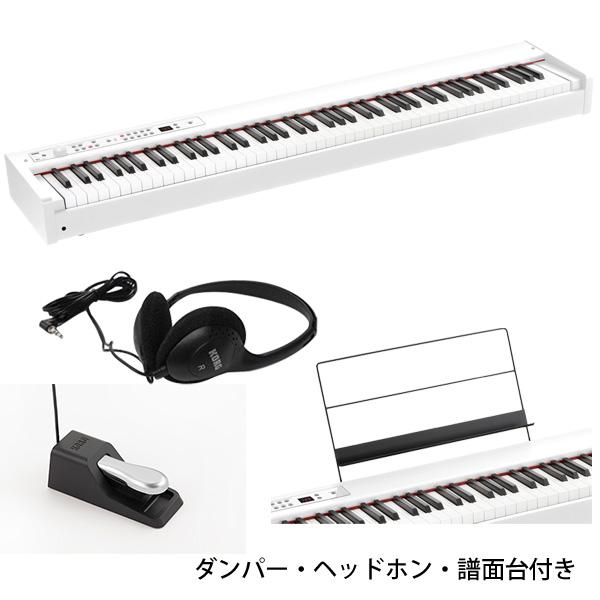 Korg(コルグ) / D1 WH (ホワイト) スピーカーレス デジタルピアノ 「譜面立て・ダンパーペダル・ヘッドホン付き」 【8月24日(土)発売】