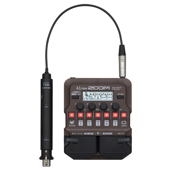 Zoom(ズーム) / A1 FOUR アコースティック楽器用マルチエフェクター 【マイクアダプター(MAA-1)付属】 1大特典セット