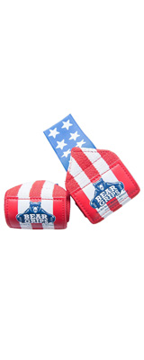 Bear Grips / II-BAND WEIGHTLIFTING WRIST WRAPS ペア (American Flag) 18インチ リストラップ