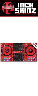12inch SKINZ / Pioneer DDJ-1000SRT SKINZ (Red/Black) 【DDJ-1000SRT用スキン】