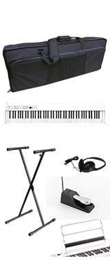 ■ご予約受付■ 【撥水バッグ&X型スタンドセット】 Korg(コルグ) / D1 WH (ホワイト) スピーカーレス デジタルピアノ 「譜面立て・ダンパーペダル・ヘッドホン付き」 1大特典セット