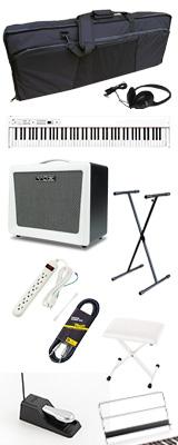 【VOXアンプセット】 Korg(コルグ) / D1 WH (ホワイト) スピーカーレス デジタルピアノ 「譜面立て・ダンパーペダル・ヘッドホン付き」 2大特典セット