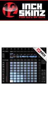12inch SKINZ / Ableton PUSH2 SKINZ (BLACK) 【PUSH2用スキン】