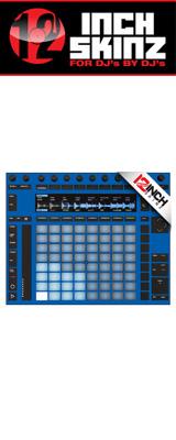 12inch SKINZ / Ableton PUSH2 SKINZ (BLUE) 【PUSH2用スキン】