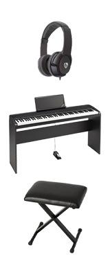 【専用スタンド&折り畳みイスセット】 Korg(コルグ) / B2N (ブラック) DIGITAL PIANO デジタルピアノ  (※代引き不可) 1大特典セット