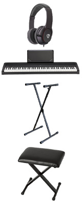 【X型スタンド&折り畳みイスセット】 Korg(コルグ) / B2N (ブラック) DIGITAL PIANO デジタルピアノ  (※代引き不可) 1大特典セット
