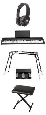 【4つ足スタンド&3本ペダル&折り畳みイスセット】 Korg(コルグ) / B2N (ブラック) DIGITAL PIANO デジタルピアノ  (※代引き不可) 1大特典セット