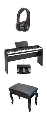 【専用スタンド&3本ペダル&猫足ベンチセット】 Korg(コルグ) / B2N (ブラック) DIGITAL PIANO デジタルピアノ  (※代引き不可) 1大特典セット