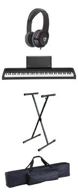 【純正バッグ&X型スタンドセット】 Korg(コルグ) / B2N (ブラック) DIGITAL PIANO デジタルピアノ  (※代引き不可) 1大特典セット
