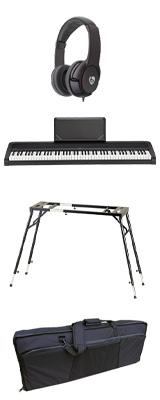 【撥水バッグ&4つ足スタンドセット】 Korg(コルグ) / B2N (ブラック) DIGITAL PIANO デジタルピアノ  (※代引き不可) 1大特典セット