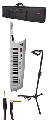 【スタンダードセット】 Roland(ローランド) / AX-EDGE-W  / CB-BAX / ST-AX2 ホワイト 49鍵 - ショルダー・キーボード - 1大特典セット