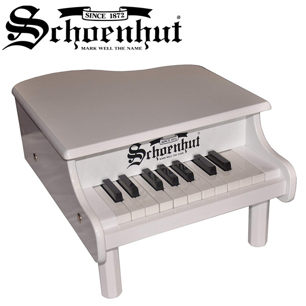 Schoenhut(シェーンハット) / Mini Baby Grand Piano (White) 18鍵盤 トイピアノ