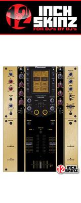 12inch SKINZ / Pioneer DJM-909 SKINZ Metallics (BRUSHED GOLD)  【DJM-909用スキン】
