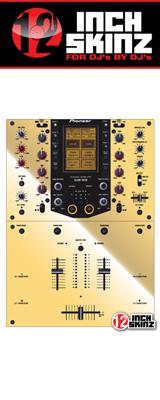 12inch SKINZ / Pioneer DJM-909 SKINZ Metallics (MIRROR GOLD)  【DJM-909用スキン】