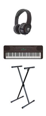 【スタンドセット】YAMAHA(ヤマハ) / PSR-E360DW (ダークウォルナット調) 61鍵盤 キーボード / ピアノ   1大特典セット
