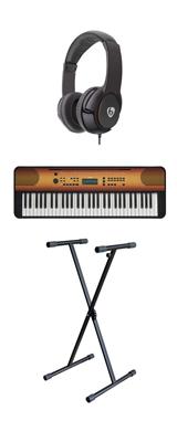 【スタンドセット】YAMAHA(ヤマハ) / PSR-E360MA (メイプル調) 61鍵盤 キーボード / ピアノ  1大特典セット