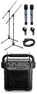 【マイクスタンドセット】 Denon Professional(デノンプロフェッショナル) / CONVOY / ワイヤレスマイク2本付き - ポータブルPAシステム - 【 Bluetooth対応 充電池内蔵 】12月5日発売 2大特典セット