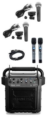【有線マイクセット】 Denon Professional(デノンプロフェッショナル) / CONVOY / ワイヤレスマイク2本付き - ポータブルPAシステム - 【 Bluetooth対応 充電池内蔵 】12月5日発売 2大特典セット