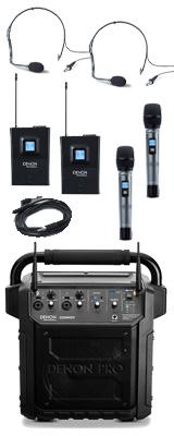 【ヘッドセット2個追加セット】 Denon Professional(デノンプロフェッショナル) / CONVOY / ワイヤレスマイク2本付き - ポータブルPAシステム - 【 Bluetooth対応 充電池内蔵 】12月5日発売 2大特典セット