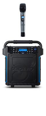 【限定1台】Denon(デノン) / Commander Sport -ワイヤレスマイク付き ポータブルPAシステム - 【 防滴IPX4 Bluetooth対応 充電池内蔵 】