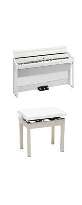【高低自在イスセット】 Korg(コルグ) / G1B AIR-WH / ホワイト /  88鍵盤 デジタルピアノ / 電子ピアノ 2大特典セット