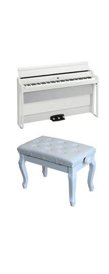 【猫足ベンチセット】 Korg(コルグ) / G1B AIR-WH / ホワイト / 88鍵盤 デジタルピアノ / 電子ピアノ 2大特典セット