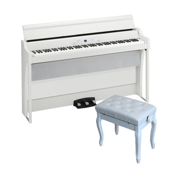 【猫足ベンチセット】 Korg(コルグ) / G1B AIR-WH / ホワイト / 88鍵盤 デジタルピアノ / 電子ピアノ 【11月29日発売】