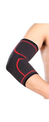 Perfect Grip / 肘サポーター (RED / Lサイズ) エルボースリーブ 左右セット